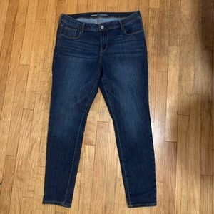 Old Navy Dark Jeans Rockstar mid rise 16R